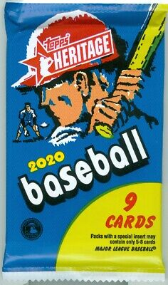 2020 Topps HERITAGE Baseball Guaranteed RELIC, AUTO RELIC Hot Pack