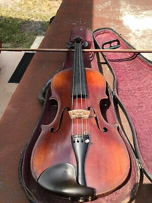 Antique German Violin Star Of David Mother Of Pearl