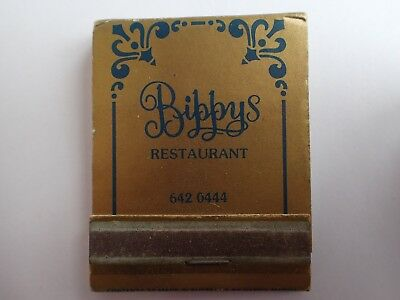 Bibbys Restaurant Matchbook Rare With Matches Gc Shipping With Tracking