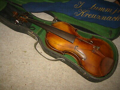 Beautifully flamed old  4/4 Violin violon