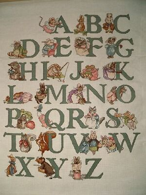 Beatrix Potter Alphabet Sampler cross stitch chart b