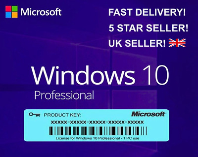 GENUINE Windows 10 Pro 32/64-bit Activation Key SAME DAY DELIVERY!