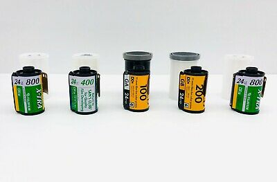 Expired 35mm Film Lot of 5 Rolls 24exp Kodak and Fuji Professional Color