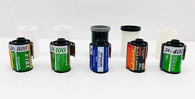 Expired 35mm Film Lot of 5 Rolls 24exp Professional Variety Color and B&W