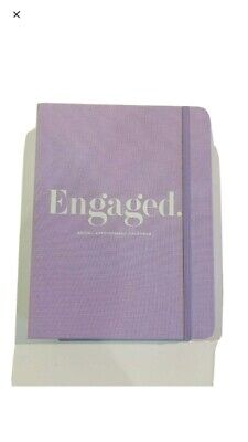 "Kate Spade New York  Bridal Planner ""Engaged"" 15 month Calendar, pouch,7.75"" NEW"