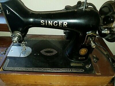 Vintage 1956 Singer 99K 3/4 Sewing Machine with Motor & Pedal in Carry Case