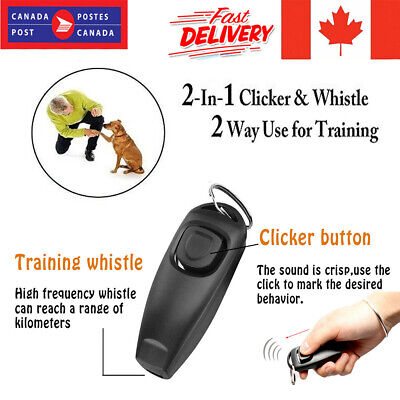 Pet Dog Treat Training Portable Doggie Whistle & Clicker to Stop Pet Barking