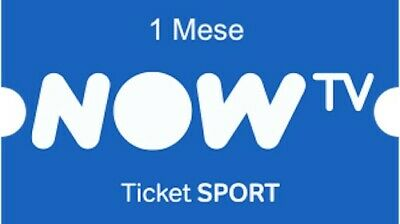 Ticket Sport 1 Mese Now Tv - Codice Digitale - Scadenza 31/12/2022