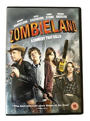 Zombieland DVD (2010) Emma Stone Woody Harrelson. Region 2 Excellent Condition