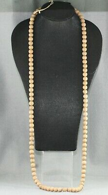 Authentic Antique Chinese Monks Prayer Beads Necklace Made Of Lotus Seeds c1910s