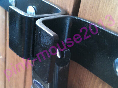 Heavy Duty shed security hasp lock,  with top, side & bottom padlock protection