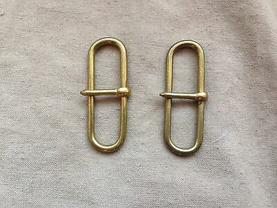 Excellent British Army Victorian Officers Patt/Size Brass Belt Hook-Sliders 4cm