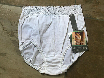 HENSON KICKERNICK Size 7 White Lace Waist Brief Panties #2924 NWT Vintage NWT