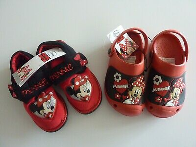 Disney MINNIE MOUSE Shoe Bundle Size 12.13 NEW WITH TAGS