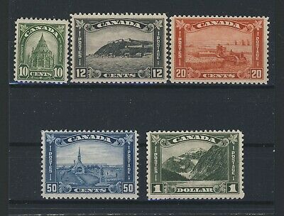 5x Canada Mint stamps #173-#176 10c & $1.00 MNG Rest MH F Guide Value = $350.00