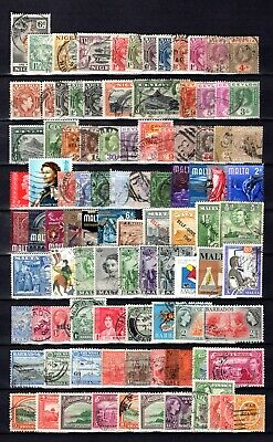 EMPIRE-COMMONWEALTH QV-QE11 GOOD-FINE USED COLLECTION ON STOCKBOOK PAGES x 1050