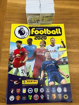 Complete full set of 636 PANINI FOOTBALL 2020 Premier League Stickers and Album
