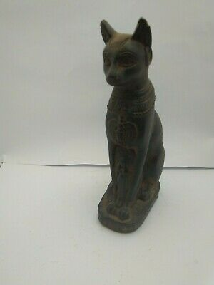 RARE ANTIQUE ANCIENT EGYPTIAN Statue of Cat Bast-Bastet 945–715 BC