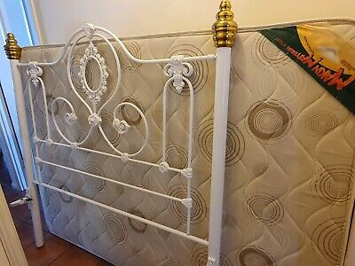 White Antique Double Bed- great condition