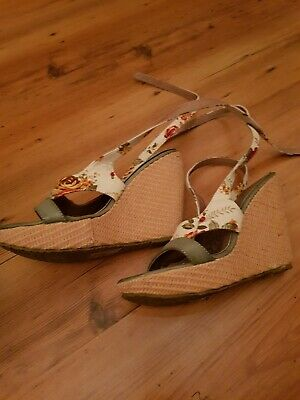 Womens Ankle Strap wedge  Sandals Ladies Strappy Buckle by red hot Shoes size 37