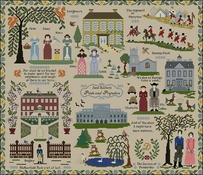 Pride & Prejudice Sampler cross stitch chart