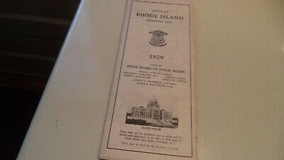 RHODE ISLAND 1929 Highway Map