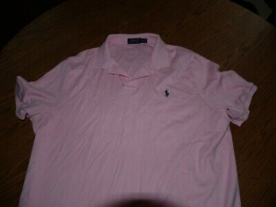 Mens~Polo By Ralph Lauren~Polo Shirt~Sz Xl~S/S~Pink