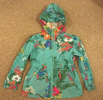 Girls, BNWOT, Next, Green/multi, Floral Design, Pockets, Zip, Raincoat. Age 6yrs