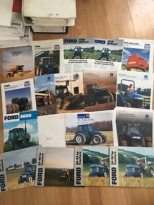 Group 18 vintage Ford & New Holland tractor & equipment brochures Good condition