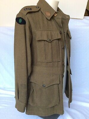 Ww2 1940 Dated Australian Army Tunic With Insignia & Colour Patches - Original