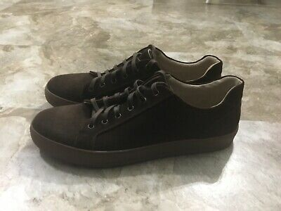 Men's Kenneth Cole Reaction Design Low Top Brown Suede Sneakers Shoes sz 12