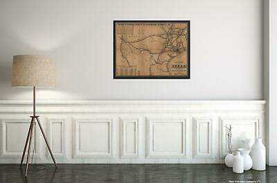 1883 Map|Title: The railroad system of Texas on September 1st, 1883|Subject: Rai