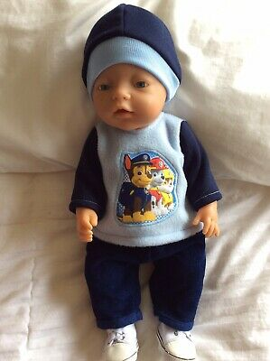 "Doll Clothes to fit 17"" Baby Born Boy doll ~ 3 Piece Set Navy : Blue :Paw Patrol"