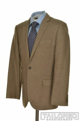 J. CREW Ludlow Solid Brown LINEN COTTON Dual Vent Jacket Pants SUIT Mens - 40 R