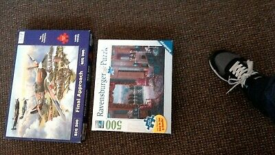 2 X LARGE500 piece jigsaw puzzles RAVENSBURGER AND HOP