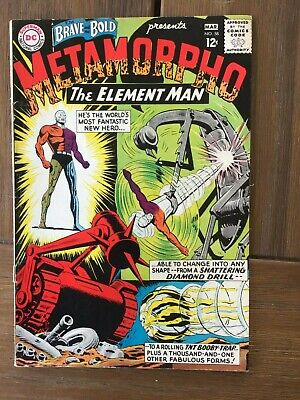 Brave and The Bold 58 from 1965 Vintage DC Silver Age VG 2nd Metamorpho