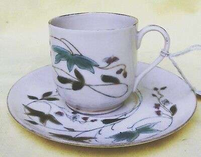 Antique Alfred Stellmacher Demitasse Cup & Saucer duo C1900