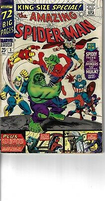 Amazing Spider-Man Annual 3 Avengers VG/F 1966 Double size