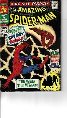 Amazing Spider-Man Annual 4 Mysterio Human Torch Wizard VG- 1967 Double size