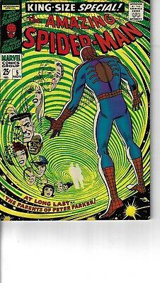 Amazing Spider-Man Annual 5 Red Skull Fine- 1968 Double size