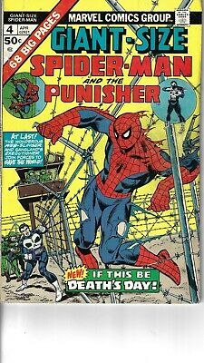 Giant Size Spider-Man 4 3rd Punisher VG+ 1975 Glossy Ross Andru Cover