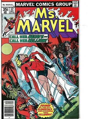 MS Marvel 12 Elementals Hecate F/VF 1977 Glossy