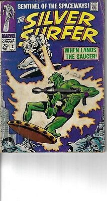Silver Surfer 2 Brotherhood Of Badoon G+ 1968 Glossy Double Size