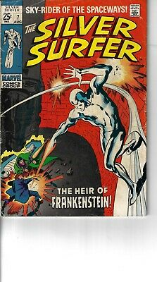 Silver Surfer 7 G/VG 1969 Glossy Double Size