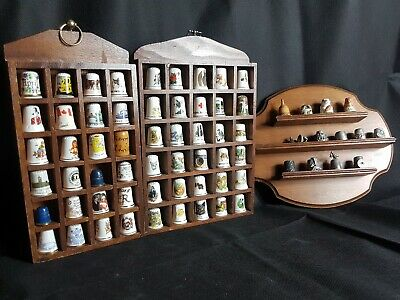 Large amount of Rare & Collectable Thimbles ~ Display Case's ~ Job Lot