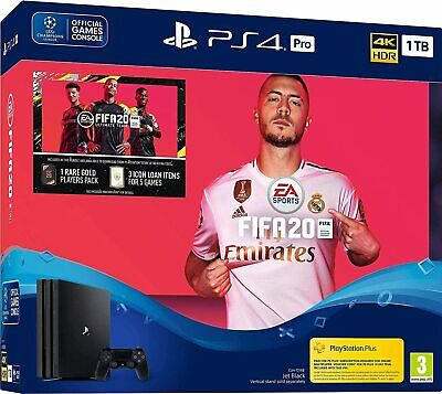 New Sony PlayStation 4 PRO 1TB FIFA 20 PS4 Bundle UK Video Game PAL Console