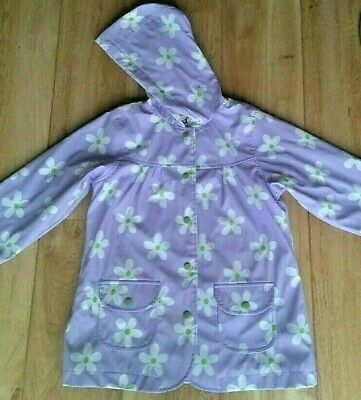 Hatley Coat ~ Lilac With Daisy Pattern ~ Age 7