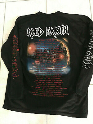 T Shirt Iced Earth Horror Show Euro Tour 2002 Taille Xl Manches Longues