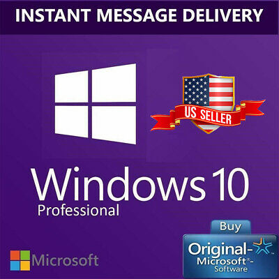 Win 10 Pro 32/ 64Bit License Key Activation Genuine