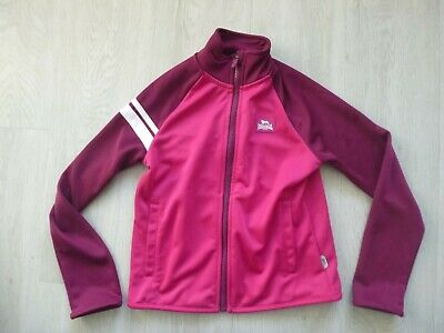 Girls Pink / Purple Lonsdale Tracksuit Top Age 7-8
